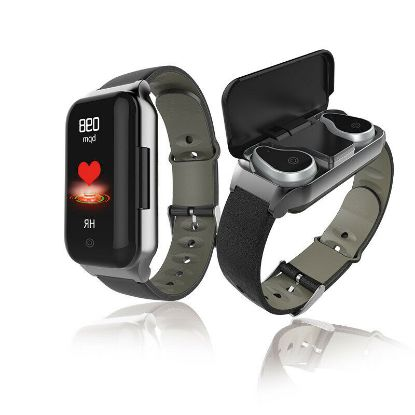 Picture of 2 in 1 Smart Watch Bluetooth Headset Heart Rate Monitor Fitness Tracker Bracelet