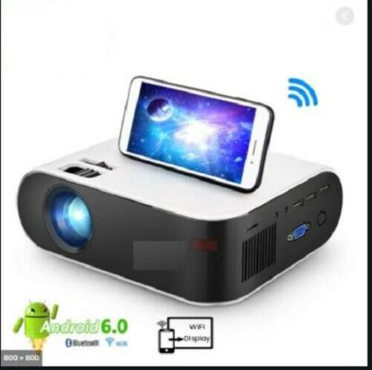 Picture of 12000 Projector Smart LED HD 1080P Home Cinema With Airplay WiFi Built ANDROID