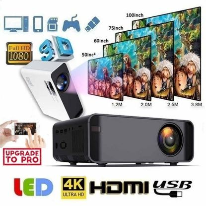 Picture of 12000Lumens Portable HD LED Projector 1080P Home Theater Multi-Functional Smart