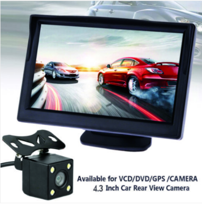 "Picture of Car Reversing Camera Rear View Kit  Night Vision + 4.3"" LCD Monitor"