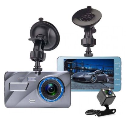 "Picture of New 4"" HD 1296P Car DVR Dual Lens Dash Cam Video Camera Recorder Night Vision"
