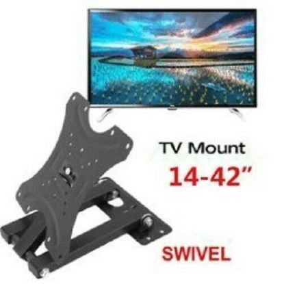"Picture of TV Wall Bracket Mount Swivel Tilt 14 21 23 26 32 37 40 42"" Plasma 3D LED LCD"