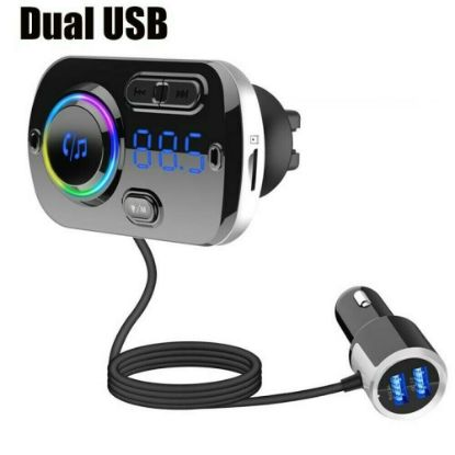 Picture of Wireless Bluetooth Handsfree Car Kit MP3 FM Transmitter Music Player Dual USB