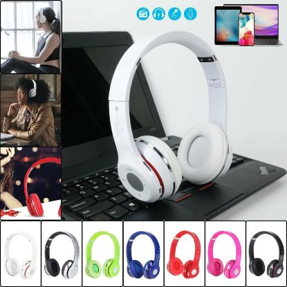 Picture of Wireless Bluetooth Headphones with Noise Cancelling Over-Ear Stereo