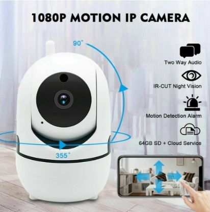 Picture of 1080P WiFi IP Camera Home Security Baby Monitor Clever Dog CCTV CAM Night Vision