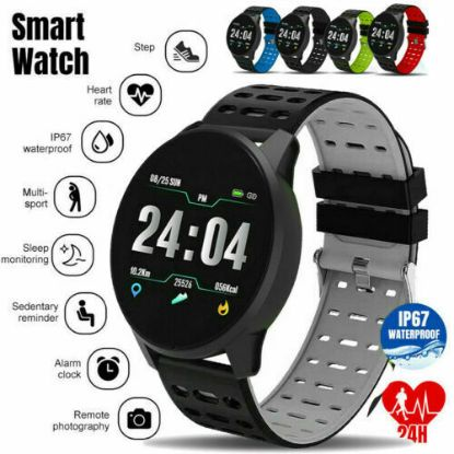 Picture of Bluetooth Smart Watch Android Waterproof Sport Activity Tracker Pedometer Heart