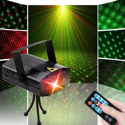 Picture of Mini adjustable Projector with RC DJ Disco Light Laser Lighting Stage Party Show