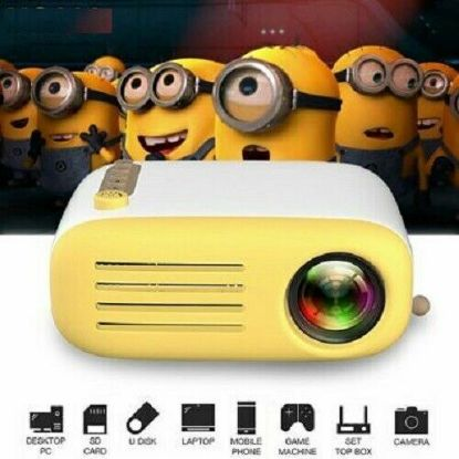 Picture of Mini Portable LED Projector 1080P HD Home Cinema Theater System PC Laptop Phone