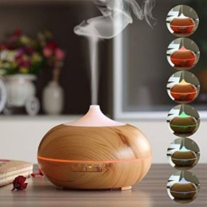 Picture of Ultrasonic Essential Oil Aroma 300 ML Diffuser Mist Humidifier LED Light Timer