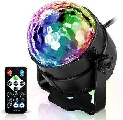 Picture of Sound Active RGB LED Stage Light Crystal Ball Disco Club DJ Party